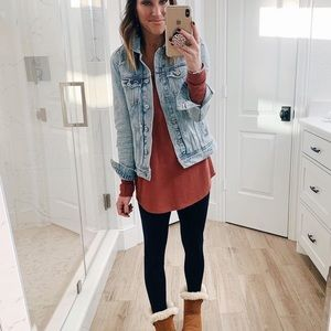 Old Navy distressed jean jacket